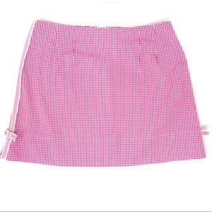 Lilly Pulitzer Pink & White Gingham Short Shirt 6